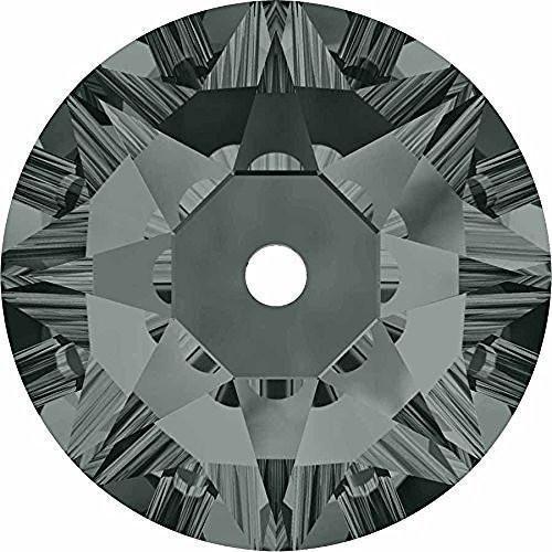 3188 Swarovski Sew On Crystals Lochrose Sequins Black Diamond | 4mm - Pack of 50 | Small & Wholesale ()