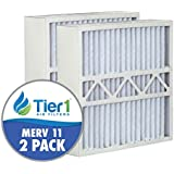 Lennox 16x20x5 Merv 11 Replacement AC Furnace Air Filter (2 Pack)