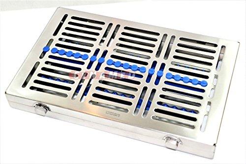 3 GERMAN DENTAL SURGICAL AUTOCLAVE STERILIZATION CASSETTES FOR 20 INSTRUMENTS BLUE ( CYNAMED ) by CYNAMED (Image #4)