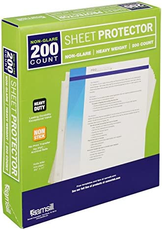 Samsill Non Glare Heavyweight Protectors Reinforced