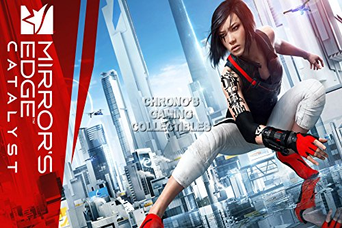 CGC Huge Poster - Mirror's Edge Catalyst Faith - Ps4 Xbox One