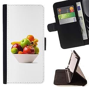 For Samsung Galaxy S3 III I9300 - Bowl of fruit /Funda de piel cubierta de la carpeta Foilo con cierre magn???¡¯????tico/ - Super Marley Shop -
