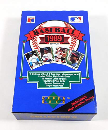 Factory Sealed Box Upper Deck - 1989 Upper Deck High Series Baseball Card Hobby Box