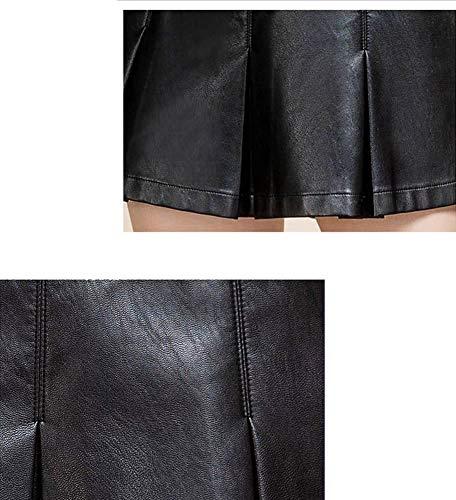 Club Jupe Short Grande PU Mini Noir DISSA Taille FS7956 Cuir BqwIEE