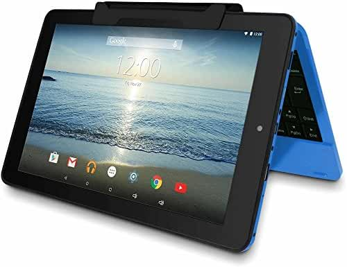 RCA Viking Pro Blue Edition 10-Inch Touchscreen 2 In 1 Tablet Laptop (Quad-Core Processor, 32G storage, Detachable Keyboard, Free Office Moblie APP, IPS Display, Android 6.0 Lollipop)