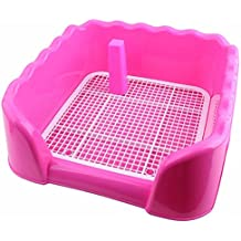 Aoile Portable Pet Dog Cat Toilet Tray with Column Urinal Bowl Pee Training Toilet