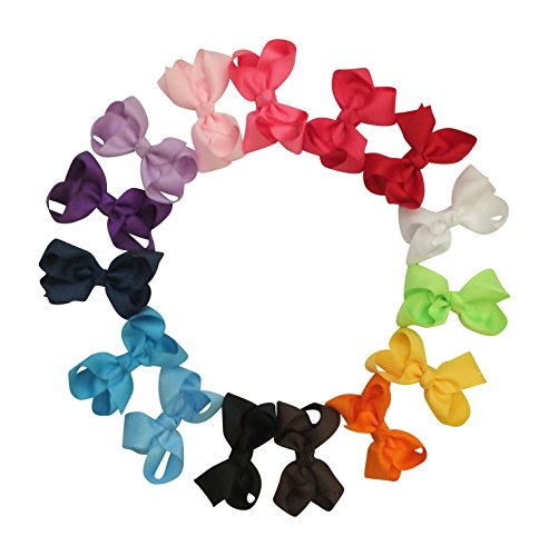 [Premium Boutique 3in Hair Bows for Teens Women Girls Baby Gifts 15pcs - Baby Accessories] (Halloween Pull Apart Cupcakes)
