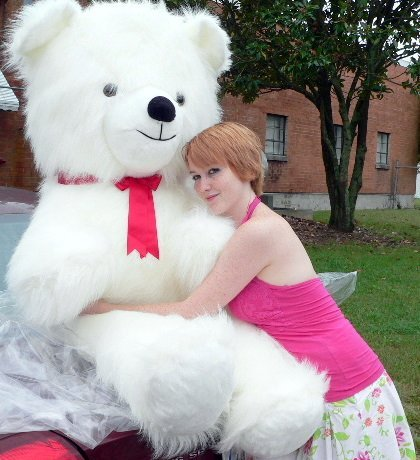American Made Giant Valentine Teddy Bear 54 Inch White Soft Huge Made in USA America, Weighs 18 Pounds (Large White Teddy Bear 5 Feet compare prices)