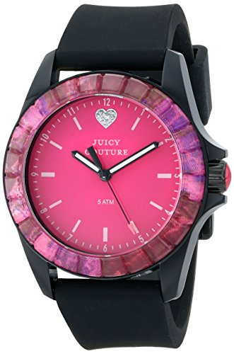 Juicy Couture Women's Black Silicone Strap Watch - 7