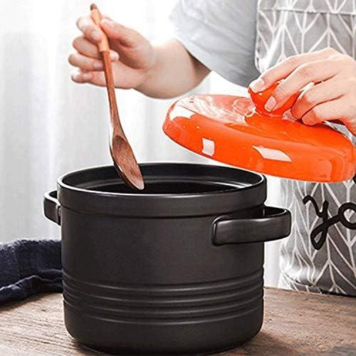 LEILEI Casserole ragoût céramique Pot de santé résistance à Haute température poêle antiadhésive Pot de Pierre Pot auxiliaire pour Enfant