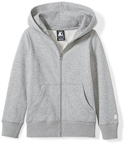 Starter Girls' Zip-Up Hoodie, Amazon Exclusive, Vapor Grey Heather, L (10/12) ()