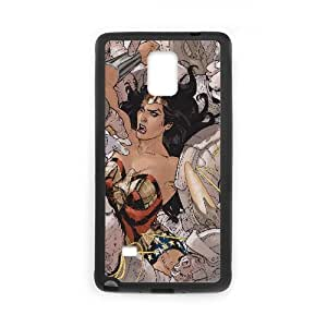 Wonder Woman Comic Samsung Galaxy Note 4 Cell Phone Case Black DIY Ornaments xxy002-3708644