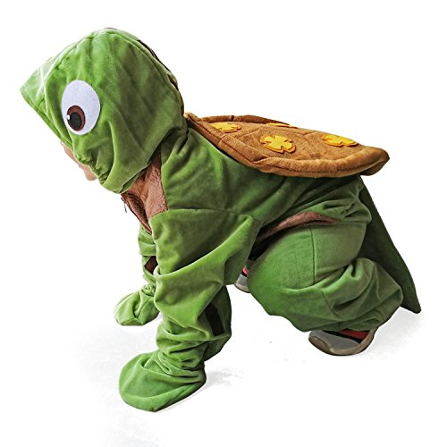 Sea Turtle Costume Childen Ocean Animal Chelonia Mydas Cosplay Halloween Fancy Dress Kids (M)