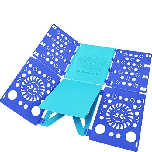 BoxLegend Shirt Folding Board t Shirts Clothes Folder Durable Plastic Laundry folders Folding Boards flipfold (Blue & Turquoise) (Blue & Turquoise)