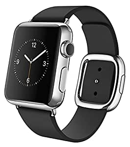 Apple Watch 38MM Stainless Steel Case with Black Modern Large Buckle