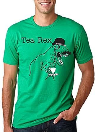 The Tea Rex T-Shirt Funny Graphic Dinosaur Gentlemen Monocle Tee S