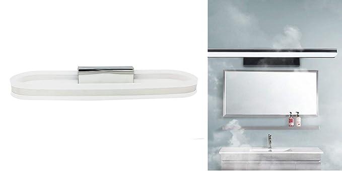 Applique led lampada specchio moderno casa 10w luce calda naturale
