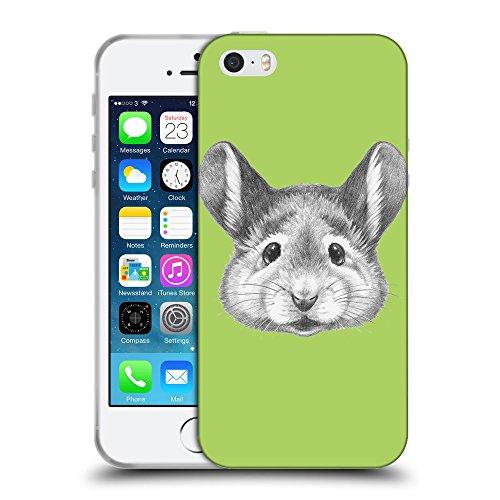 GoGoMobile Coque de Protection TPU Silicone Case pour // Q05410628 Souris portrait Inchworm // Apple iPhone 5 5S 5G SE