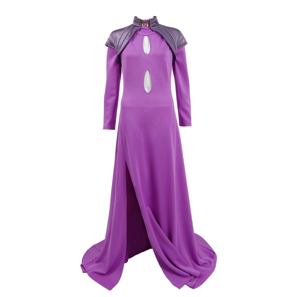 VOSTE Medusa Costume Princess Queen Nobility Cosplay Purple Long Dress with Cappa for Women (Custom-Made, Purple) by VOSTE