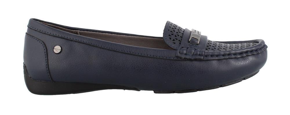 LifeStride Women's Viva 2 Driving Style Loafer, Navy, 10 W US