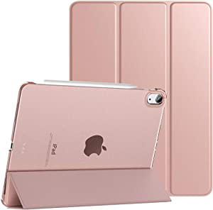 TiMOVO Case for New iPad Air 4th Generation, iPad Air 4 Case (10.9-inch, 2020), [Support 2nd Gen Apple Pencil Charging] Slim Stand Protective Cover Shell with Auto Wake/Sleep - Rose Gold
