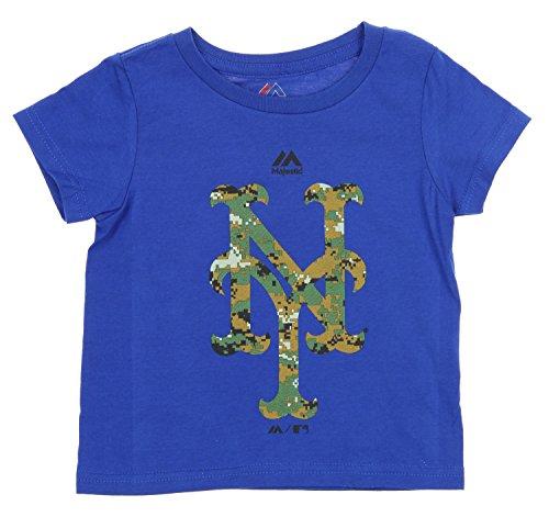 New York Mets Camo - MLB Boys Toddlers Majestic USMC Woodland Camo Logo T-Shirt, New York Mets