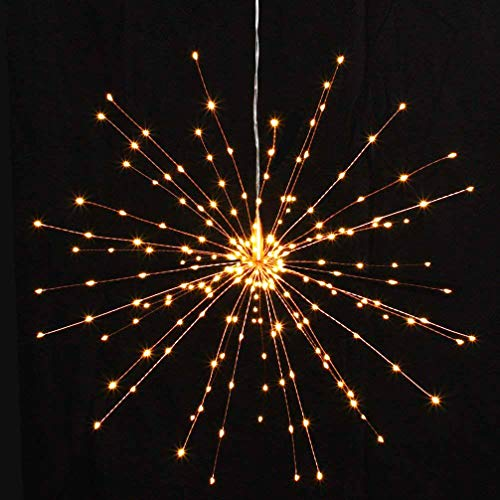 PXB 2 Pack Starburst Sphere Lights,200 Led Firework Lights, 8 Modes Dimmable Remote Control Waterproof Hanging Fairy Light, Copper Wire Lights for Patio Parties Christmas Decoration (Warm White) by PXB (Image #3)