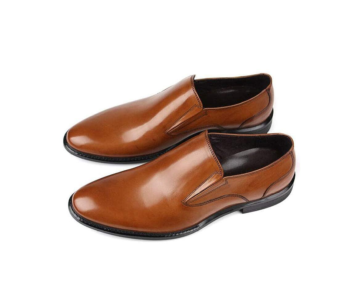Men's England Lederschuhe Einzelne Füße Business Männer Schuhe Einzelne Lederschuhe Hochzeit Schuhes Braun c1aefe
