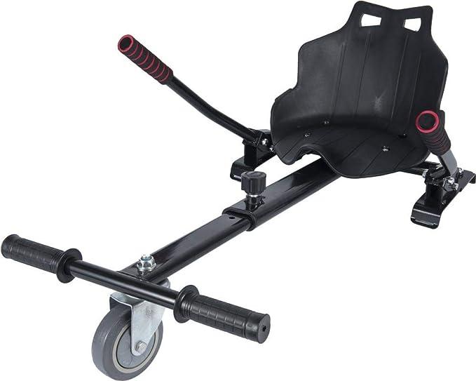 """ICAROTECH SISTEMS– HoverKart para Patinete Eléctrico para adulto y niños Compatible con Hoverboard 6,5"""" Color Negro"""