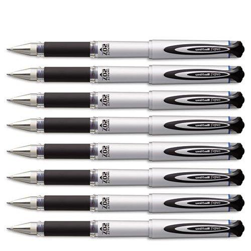 Uni-ball 65801 207 Impact Roller Ball Stick Gel Pen, Blue Ink, Bold