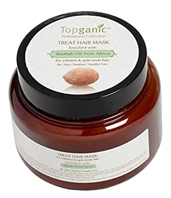 Topganic Treatment Hair Mask with Baobab Oil, 16.9 Ounce