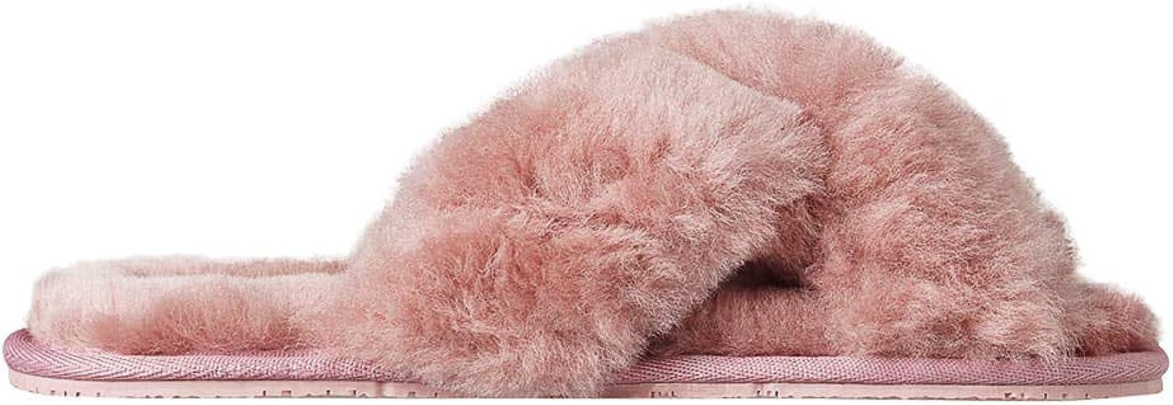 Chausson Femme Mouton Chausson Fourrure Femme soxo Chausson Sandale en Peau De Mouton Pantoufles Chaudes Plusieurs Couleurs