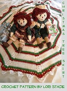 Amazon.com: Easy to Crochet Christmas Tree Skirt Pattern - An Easy ...