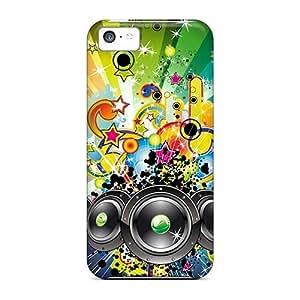 Unique Design Iphone 5c Durable Tpu Case Cover Colorful Sound