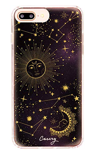 Casery iPhone Case Designed for The Apple iPhone iPhone 6, 6s, 7, 8 Plus, Universe (Cosmic Sun) - Military Grade Protection - Drop Tested - Protective Slim Clear Case