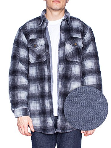 MAXXSEL Flannel Jacket for Mens Big & Tall Thermal Lined But