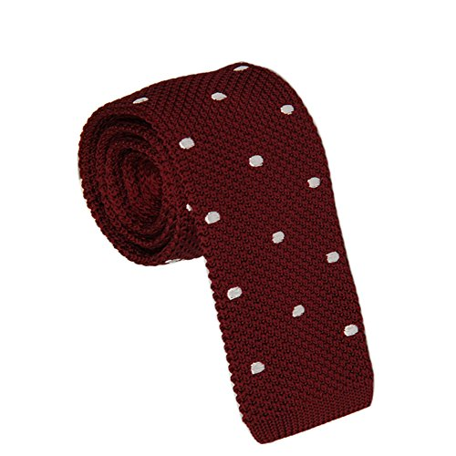 (AINOW Vintage Smart Small Men's Business Causal Necktie Kint Tie Smart Casual Men's 2