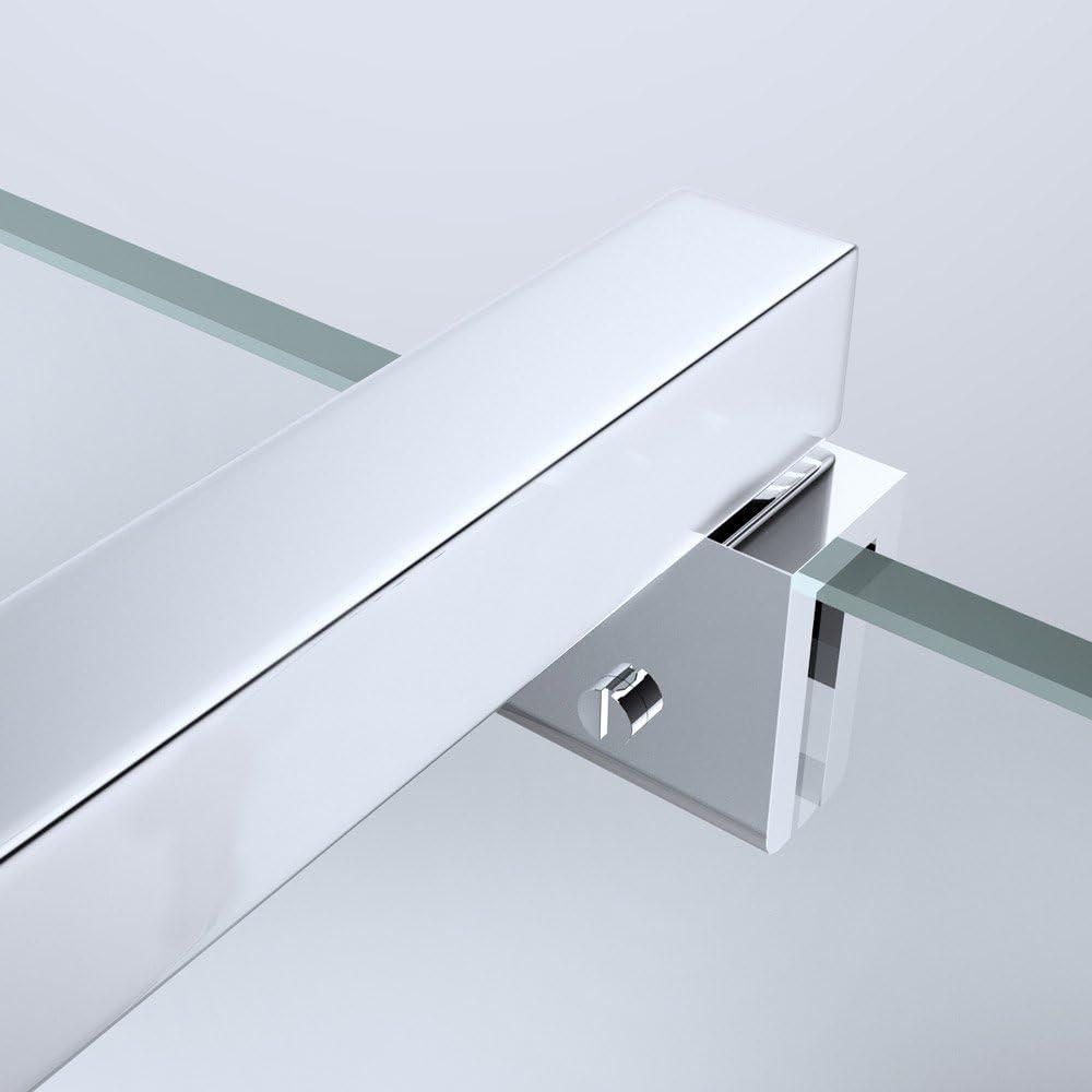 estabilizador para vidrio variable 80-120cm Forma cuadrada Sogood Barra de sujeci/ón para mamparas de duchas dise/ño BRAM2
