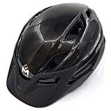 ÉSASAM Mountain Bike Helmet Detachable Visor Padded Adjustable CPSC Safety Certified MTB Cycling Bicycle Helmet Men Women Youth Teenagers Sports Outdoor Safety Helmet (Sharp Black, M(54-58) cm) Review