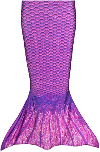 Fin Fun Toddler Mermaid Tail Costume for Swimming, Asian Magenta, Size 5T