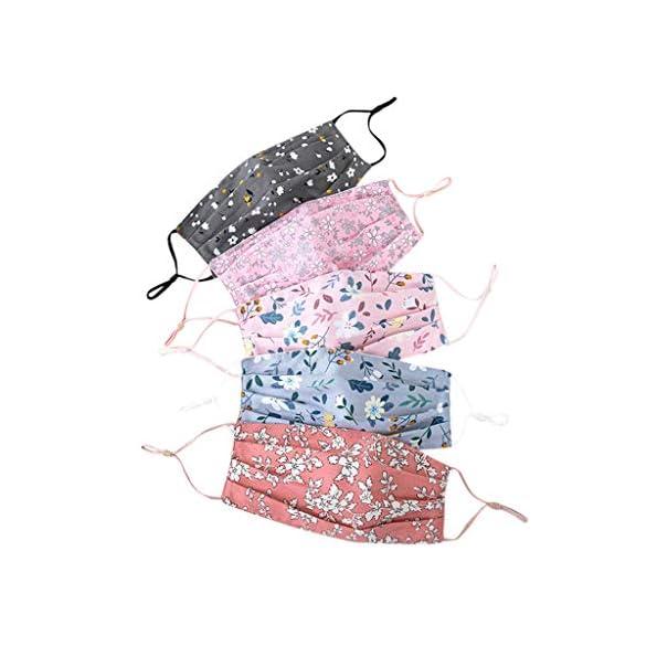Staresen-5-Stck-Mundschutz-Set-Mit-Motiv-Atmungsaktiv-Erwachsene-Farbig-Halstuch-Schal-Bedruckt-Mund-und-Nasenschutz-Waschbar-Stoffe-Zum-Nhen-Mundschutz-Sport-Bandana-fr-Frauen-Mnner