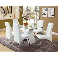 247SHOPATHOME IDF8370WH-SC Dining-Chairs, White