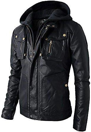 New Mens Leather Jacket Slim fit Biker Motorcycle genuine lambskin High Quality