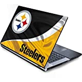 Skinit Protective Skin (fits latest Generic 17-Inch Laptop/Netbook/Notebook); NFL Pittsburgh Steelers Logo