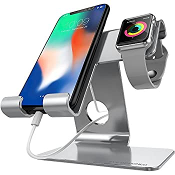 ZVEproof Universal Cell Phone Stand, Apple iwatch Charger Stand for iWatch, all Android Smartphone, iPhone 6 6s 7 8 X Plus, Accessories Desk, Nintendo Switch, Tablets(Up to 12.9 inch)