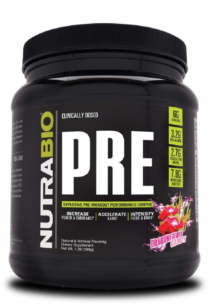NutraBio PRE Workout V5 – Dragonfruit Candy