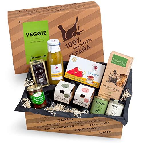 Feinkost-Präsentkorb Veggie-Box Spanien | Ideale Geschenkidee für Freunde der vegetarischen Küche & Vegetarier…