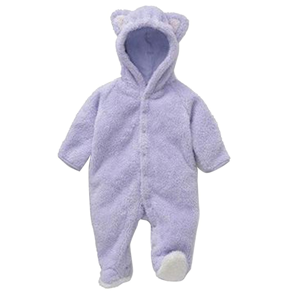 9173168ef Amazon.com  FAVOLOOK Infants Baby Romper Fleece Eared Romper with ...
