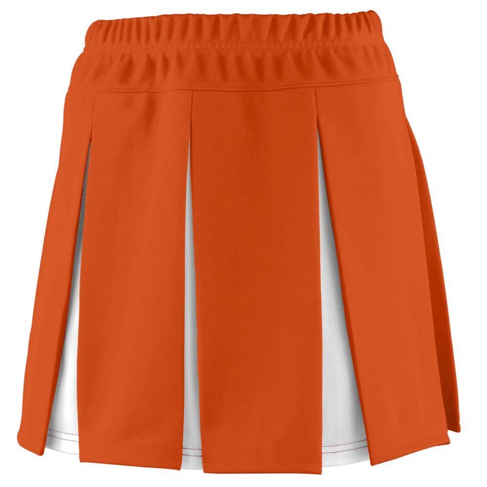 Augusta Sportswear Girls Liberty Skirt XXS Orange/White by Augusta Sportswear
