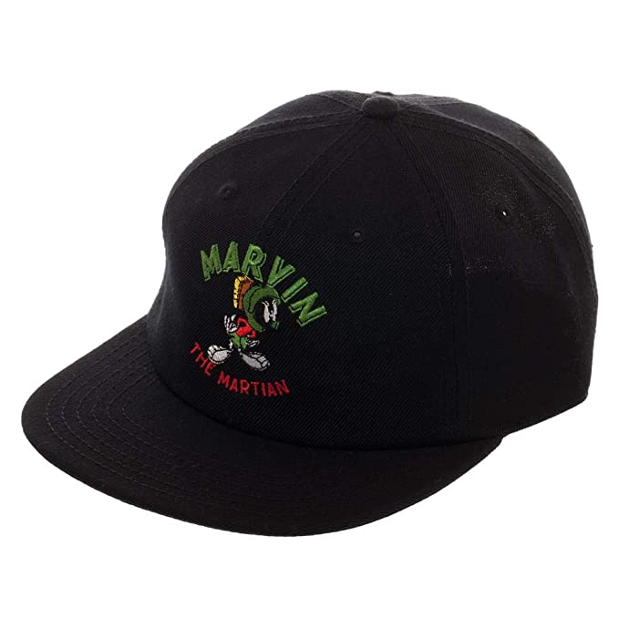 e3d6fea0a7930 Image Unavailable. Image not available for. Color  Marvin The Martian Hat  Looney Tunes Snapback Marvin The Martian Snapback Black